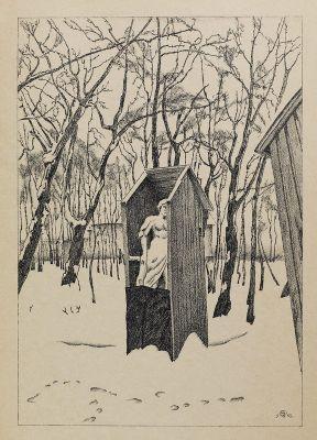 М в добужинский летний сад зимой 1923