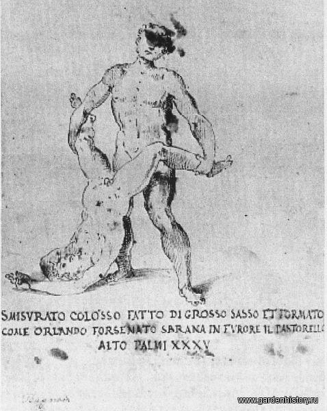 Павильон-маска. Рисунок Джованни Гуэрра. 1590-е